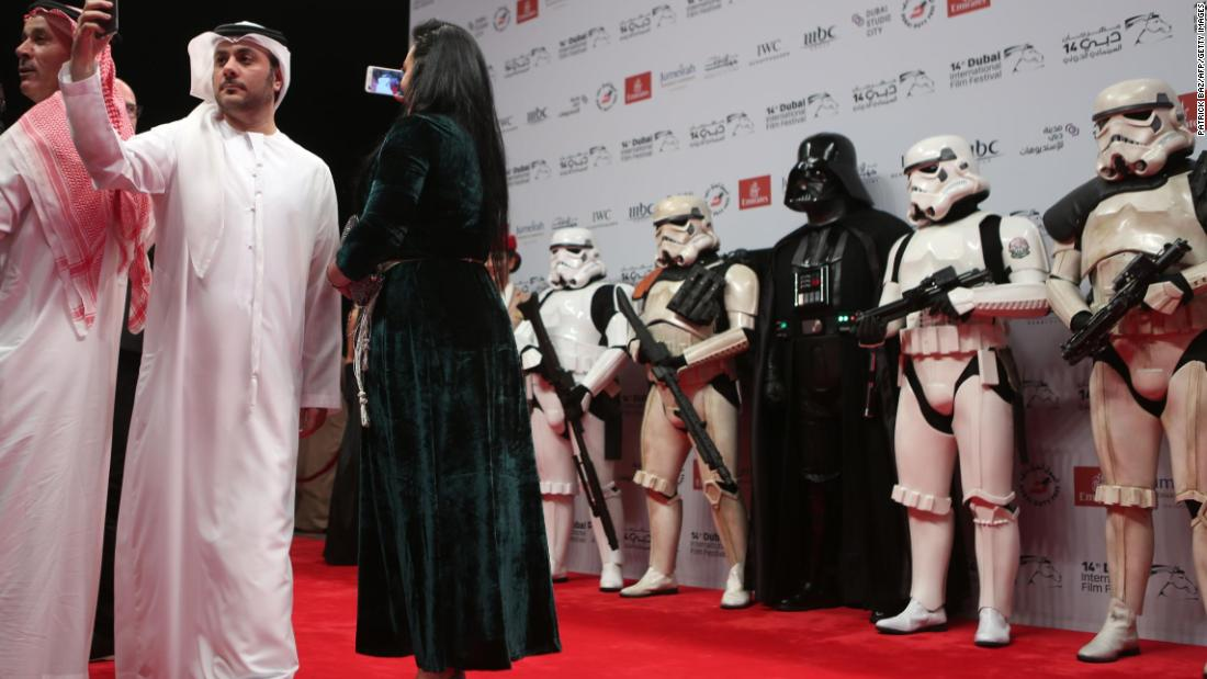 On the red carpet on December 13 were the great and good of the Emirates' film community, alongside a few familiar faces from the series.