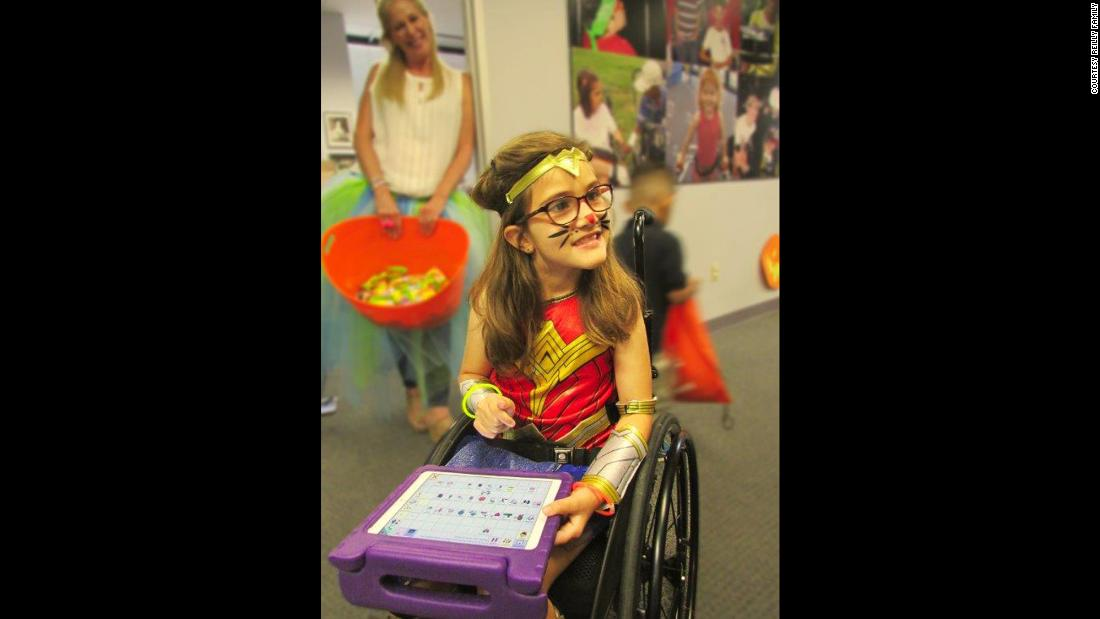 Avery attended an Easter Seals Greater Houston event dressed as Wonder Woman. Easter Seals is a nonprofit that provides services for children and adults with autism, special needs, and developmental and physical disabilities.