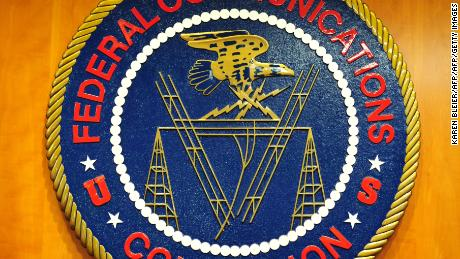 This May 15, 2014 photo shows the seal for the Federal Communications Commission (FCC) in Washington, DC. AFP PHOTO / Karen BLEIER