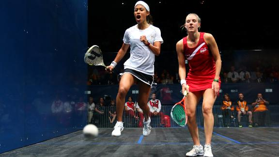 Widely considered one of the the greatest female squash players of all time, David was world No. 1 for a staggering 108 consecutive months, only losing her throne in September 2015. She will be looking for a third consecutive Commonwealth gold in April?