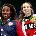 simone manuel catherine skinnr swimmers rio 2016 olympics