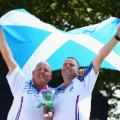 Alex Marshall and Paul Foster  Scotland lawn bowls