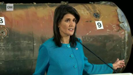 Haley: Missile debris 'proof' of Iran's UN violations