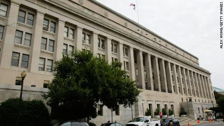 An exterior view of the U.S. Department of The Interior is seen September 11, 2008 in Washington, DC.