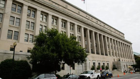 WASHINGTON - SEPTEMBER 11:  An exterior view of the U.S. Department of The Interior is seen September 11, 2008 in Washington, DC. An Interior Department investigation found 19 employees in its Minerals Management Service's royalty collection office in Denver have involved in a serious conflict of interest by receiving advantages, including ski and golf trips from, and have sex with energy company employees between 2002 and 2006. The House Oversight and Government Reform Committee will hold a hearing to examine the investigation next week.  (Photo by Alex Wong/Getty Images)