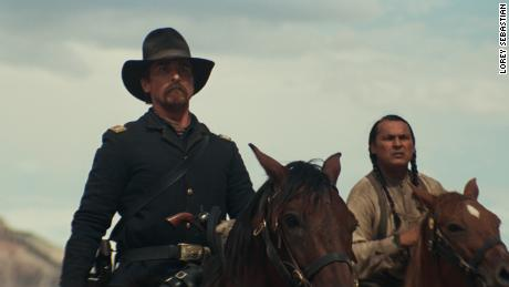 Christian Bale, Adam Beach in 'Hostiles'