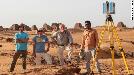 The Zamani Project team in Meroë, Sudan
