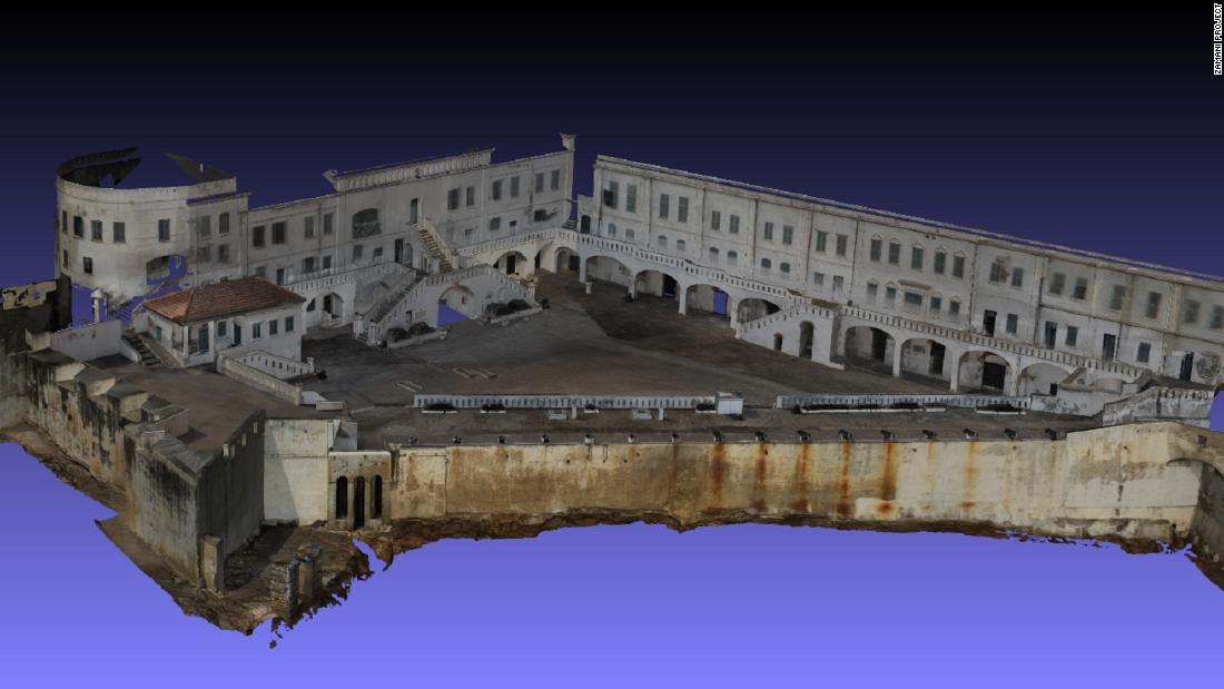 "The Zamani Project digitally records<strong> </strong>cultural and historic sites across Africa to preserve them for future generations. The models can be experienced in virtual reality, where users can<strong> </strong>""walk through"" the sites. This model is the Cape Coast Castle in Ghana."