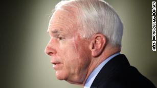 The political world reacts to Sen. John McCain's death