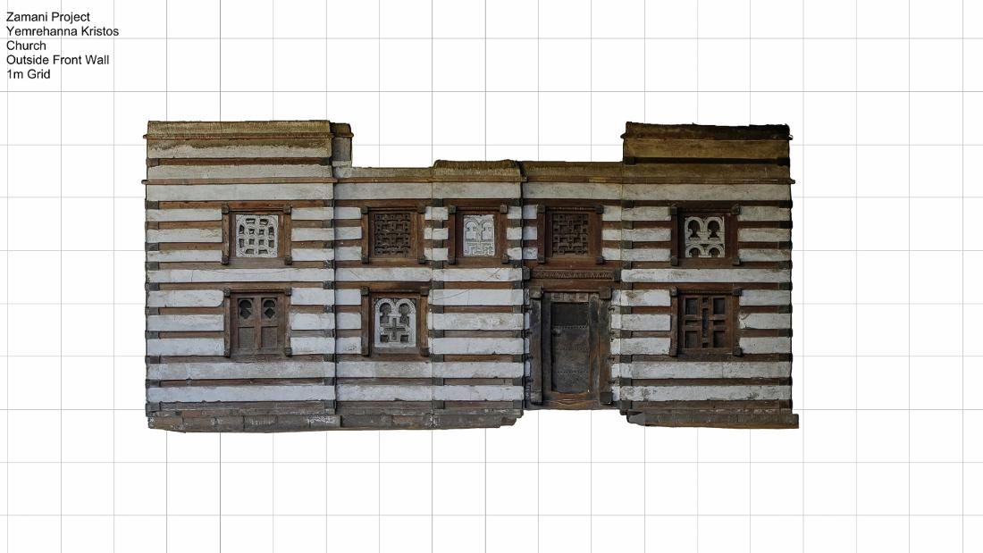 A 3-D model scan of an 11th century Ethiopian Orthodox church, constructed of wood and stone.