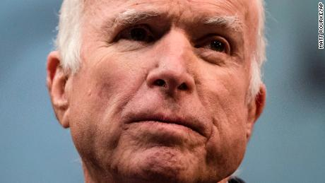 McCain to miss tax vote after hospitalization