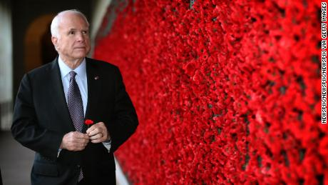 MAY 29, 2017: CANBERRA, ACT - (EUROPE AND AUSTRALASIA OUT) U.S. Senator John McCain looks at the Roll of Honour after the Last Post Ceremony at the Australian War Memorial in Canberra, Australian Capital Territory. (Photo by Kym Smith/Newspix/Getty Images)