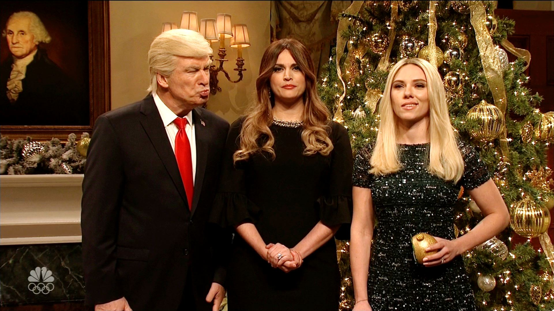 Snl Christmas Trump Skit 2020 SNL': Trump trims Christmas tree with 'losers'   CNN Video