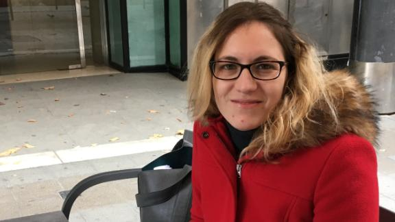 Miríam Candelera, 28, says Madrid takes too much of Catalonia's money.