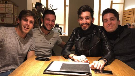 From left, Rubén Salvador Santiago, Antonio Bernardino, Daniel Mendez, José Padilla from The Mosted come from different parts of Spain and Portugal.