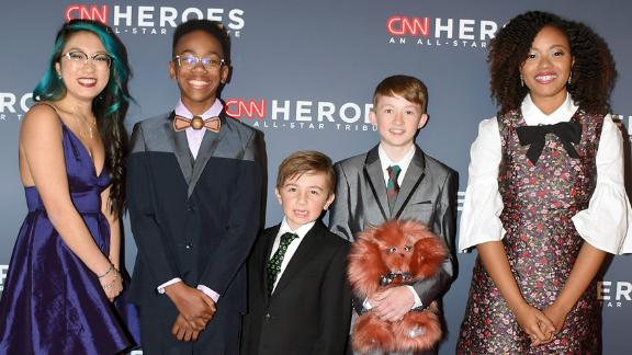 All five 'Young Wonders' were honored during the live, global telecast of CNN Heroes: An All-Star Tribute.