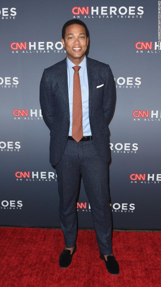 CNN anchor Don Lemon arrives at the 2017 CNN Heroes tribute.