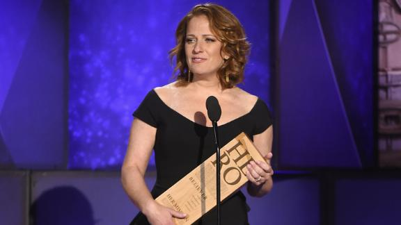 Wright speaks while accepting her Top 10 CNN Hero award.