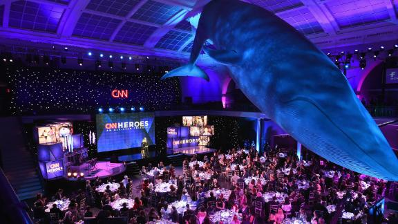 """A view of the audience during the 2017 """"CNN Heroes All-Star Tribute"""" at the American Museum of Natural History in New York."""