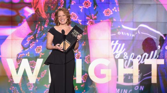 Amy Wright operates a coffee shop that employs dozens of people with disabilities. She won the 2017 CNN Hero of the Year award for her work and will receive $100,000 to grow her cause. Click through the gallery to see inspiring moments from this year's awards show: