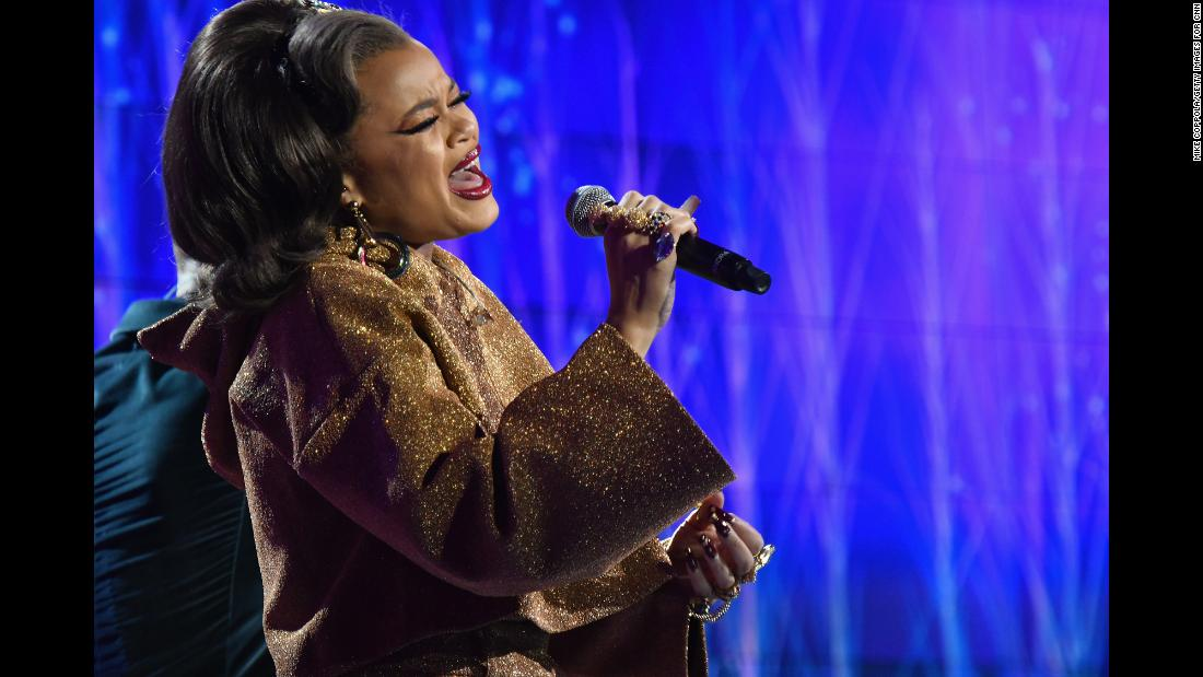 Andra Day performs onstage.