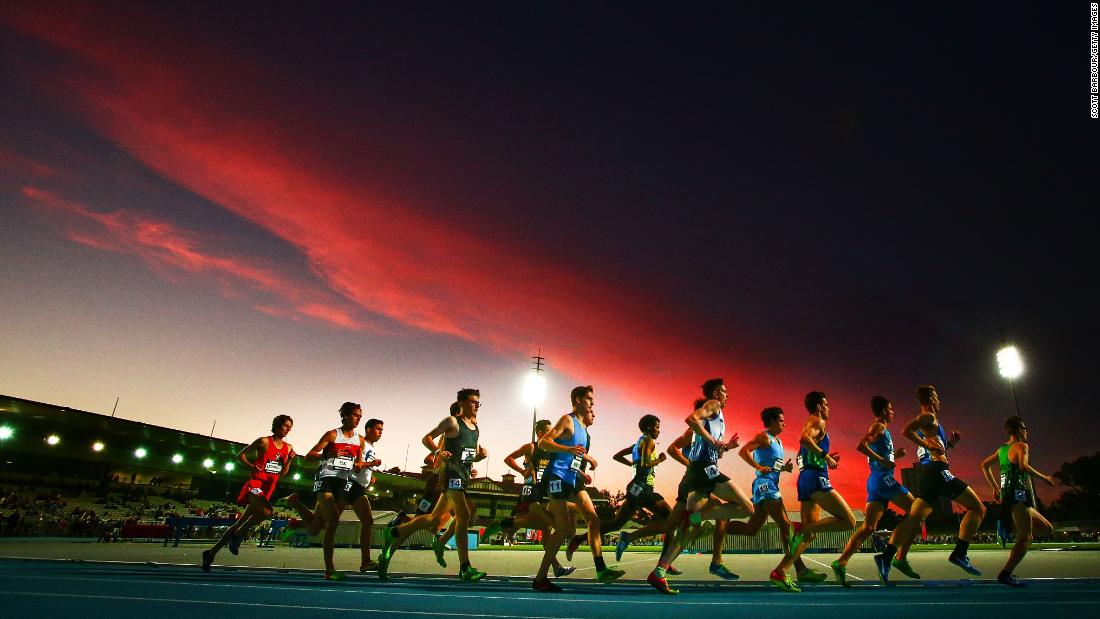 "Athletes run the 3,000 meters during a track meet in Melbourne on Thursday, December 14. <a href=""http://www.cnn.com/2017/12/11/sport/gallery/what-a-shot-sports-1212/index.html"" target=""_blank"">See 28 amazing sports photos from last week</a>"
