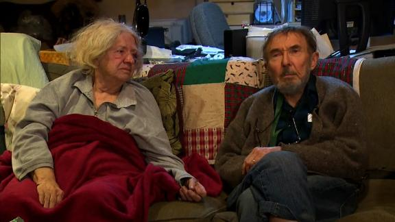 Beverly Heebner and her husband, Charlie, survived Monday's train derailment with minor injuries.