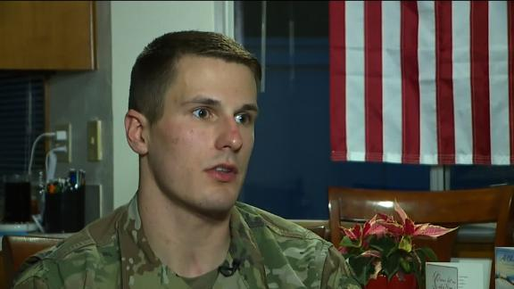 Army 2nd Lt. Robert McCoy says he helped ejected train passengers get out of the highway.