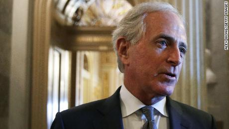 Corker offers tepid endorsement of Republican running to replace him