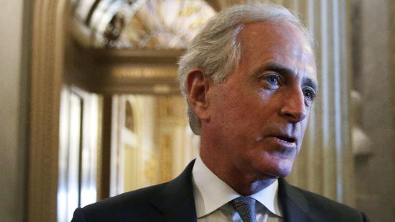 WASHINGTON, DC - DECEMBER 01:  U.S. Sen. Bob Corker (R-TN) speaks to members of the media at the Capitol December 1, 2017 in Washington, DC. Senate GOPs indicate that they have enough votes to pass the tax reform bill.  (Photo by Alex Wong/Getty Images)