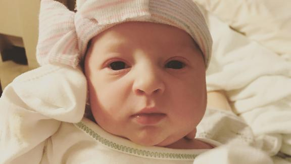 Weighing 6 pounds 8 ounces and measuring 20 inches long, Emma is a healthy baby girl.