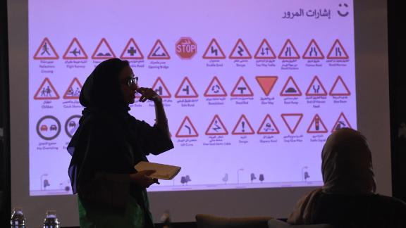 """The sessions, taught by Saudi female instructors, educate women interested in becoming Careem """"captains"""" -- as the company refers to chauffeurs under its platform-- about the Saudi traffic law, principles of customer service, and how to use the application's platform."""