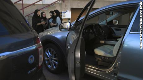 Saudi women take part in a training programme for new female drivers at Careem, a chauffeur driven car booking service, at their Saudi offices in Khobar City, some 424 kilometres east of the Saudi capital of Riyadh, on October 10, 2017.