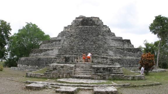 The Chaccoben Mayan Ruins.