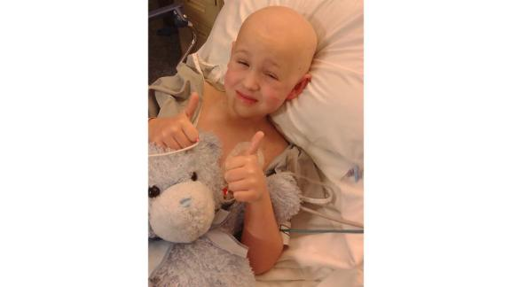 Bryce Greenwell, 6, after his bone marrow transplant in August 2014.