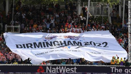 BIRMINGHAM, ENGLAND - SEPTEMBER 02:  A banner in the ground for Birmingham's bid for the 2022 commonwealth games during the NatWest T20 Blast Semi-Final match between Birmingham Bears and Glamorgan at Edgbaston on September 2, 2017 in Birmingham, England.  (Photo by Laurence Griffiths/Getty Images)