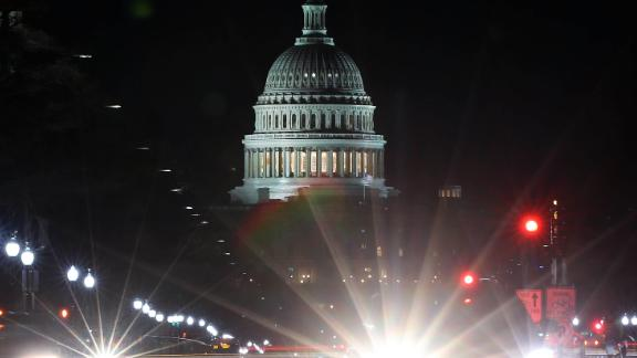 WASHINGTON, DC - DECEMBER 20:  Traffic streaks past the U.S. Capitol on December 20, 2017 in Washington, DC. Yesterday the Senate passed President Trump's tax reform bill and today it will return to the House of Representatives for final approval.  (Photo by Mark Wilson/Getty Images)