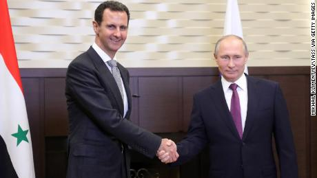 Syria's President Bashar al-Assad (L) has cemented his alliance with Russia's President Vladimir Putin.
