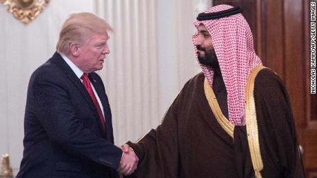 US President Donald Trump with Saudi  Crown Prince Mohammed bin Salman.