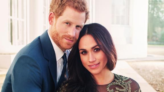 Markle wore a Ralph & Russo gown for her engagement photographs, which were taken by Lubomirski.