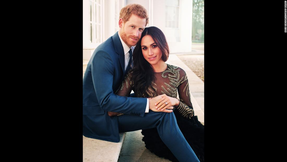 "This photo released by Kensington Palace on Thursday, December 21, shows Prince Harry and Meghan Markle in one of their <a href=""http://www.cnn.com/2017/12/21/europe/prince-harry-meghan-markle-official-photos-intl/index.html"" target=""_blank"">official engagement photos</a> captured at Frogmore House in Windsor, England. The couple, who announced their engagement last month, are due to marry on May 19 in St. George's Chapel at Windsor Castle, west of London."