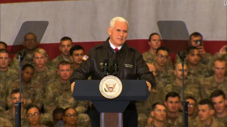 Pence in Afghanistan: We will see it through
