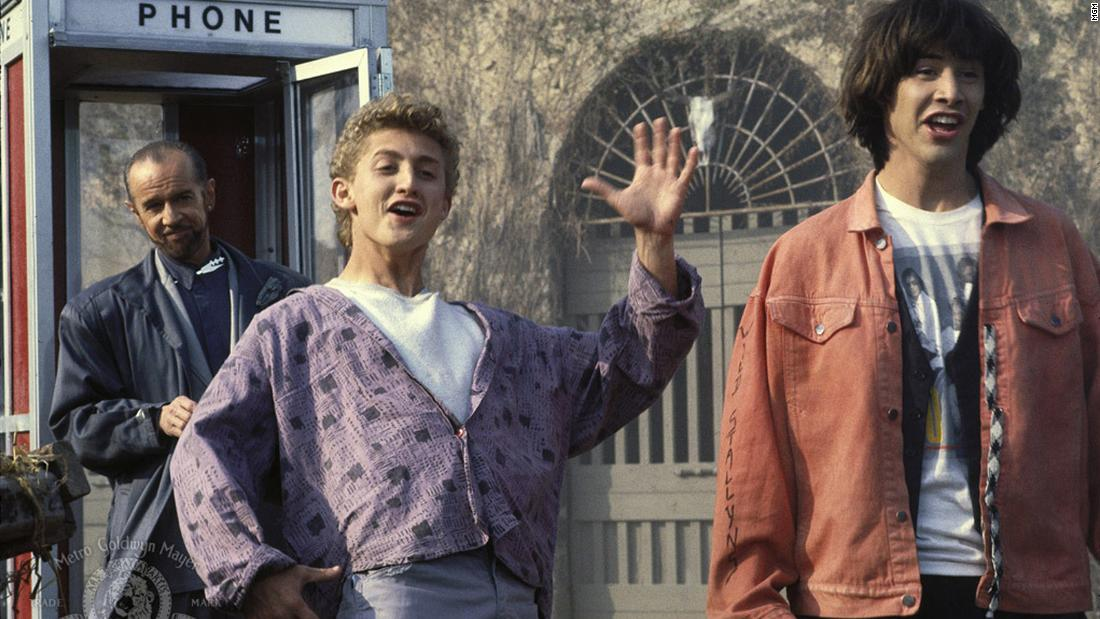 "<strong>""Bill & Ted's Excellent Adventure""</strong>:<strong> </strong>A pair of teens, played by Alex Winter and Keanu Reeves, use a time machine to try and prepare for a historical presentation in this comedy. <strong>(Hulu) </strong>"