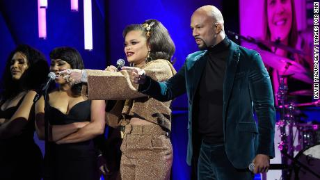 Andra Day and Common perform 'Stand Up For Something' during the 11th annual CNN Heroes: An All-Star Tribute at the American Museum of Natural History on December 17, 2017 in New York City.