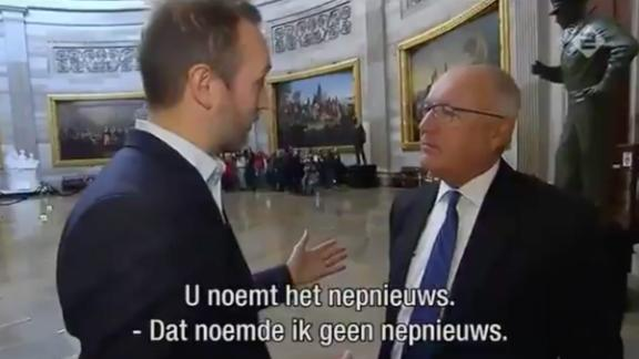 US ambassador denies own comments, then denies denial The new US ambassador to the Netherlands lied twice to a Dutch news crew about 2015 comments he made saying the country was in chaos because of Muslims.