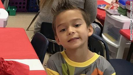 Kameron Prescott, who was fatally shot Thursday, is shown at his school in a photo posted by the Schertz-Cibolo-Universal City Independent School District.