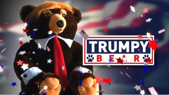Trump plus bear equals Trumpy Bear...bizarro gift of the holiday season. Jeanne Moos cuddles one.    Trumpy Bear   It