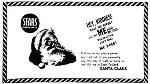The ad that led to Norad tracking Santa.