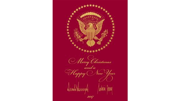 The Republican National Committee sent out President Donald Trump and first lady Melania Trump's Christmas card.