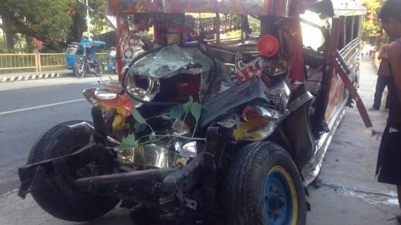 Twenty Catholic pilgrims were killed after a jeepney collided with a bus in the Philippines, police said.